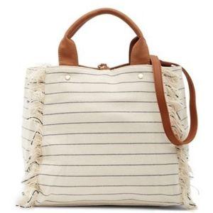 "Deux Luxe ""Calistoga"" Tote Shoulder Bag, Ivory"